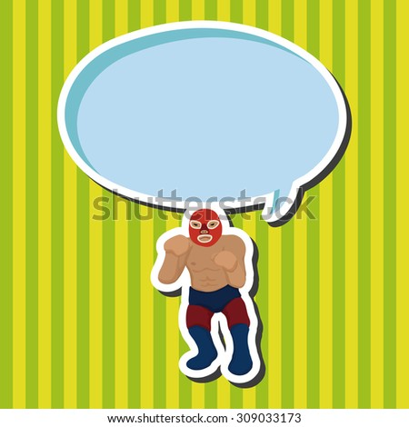 Wrestler, cartoon speech icon