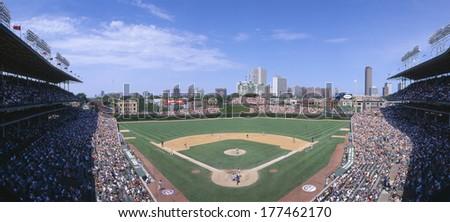 Wrigley Field, Chicago, Cubs v. Rockies, Illinois - stock photo