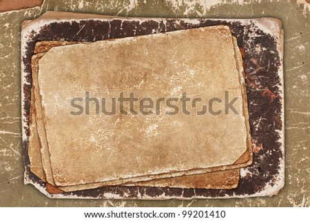 Wrinkled aged paper background