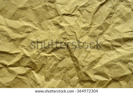 Wrinkled brown paper background - stock photo