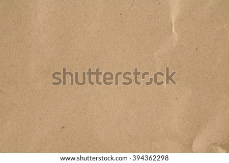 Wrinkled brown paper background