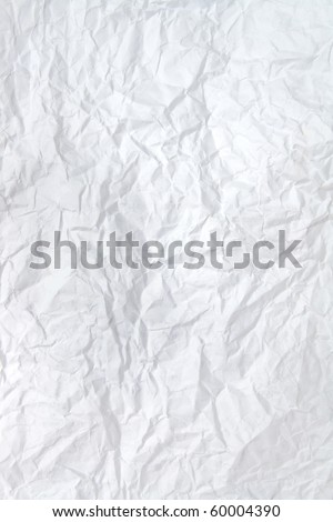 Wrinkled crinkly and crumpled paper using as background - stock photo