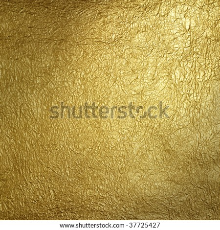 Wrinkled gold surface pattern - stock photo