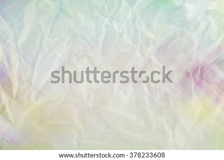 Wrinkled paper colorful texture background - stock photo