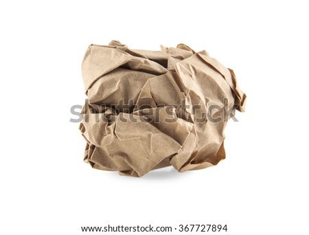 wrinkled paper isolated on a white background