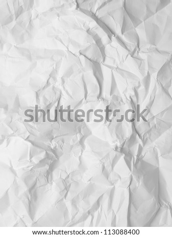 wrinkled paper, used as background - stock photo