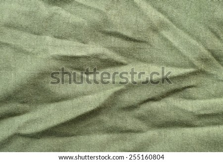 Wrinkled Stretch Fabric Cloth Texture and Background  - stock photo