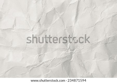 wrinkled thick paper closeup. Abstract textured background - stock photo