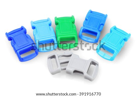 Wrist Band Plastic Buckles on White Background