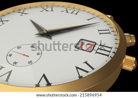 wrist watch. isolated on black background. 3d