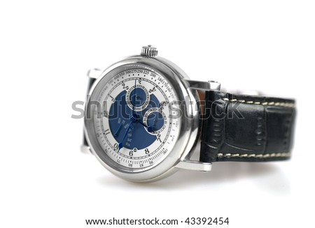 Wrist Watch Isolated on White Background - stock photo