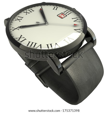 wrist watch. isolated on white background. 3d