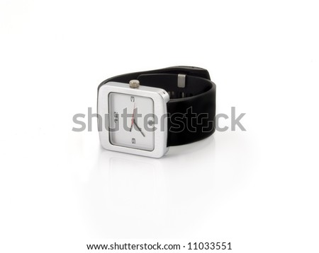 Wrist-watch with strap isolated on white