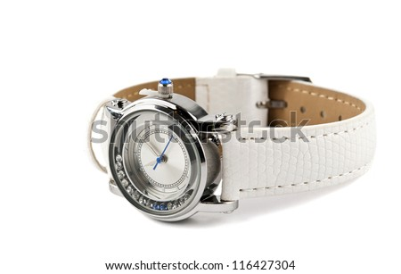 Wrist watches women on a white background - stock photo
