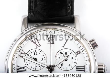 wristwatch close up - stock photo