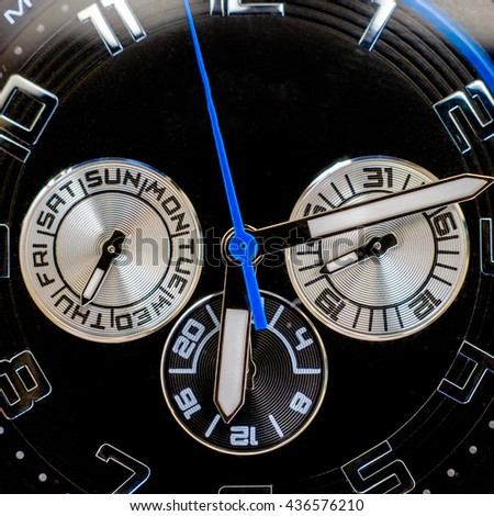 wristwatch closeup - stock photo
