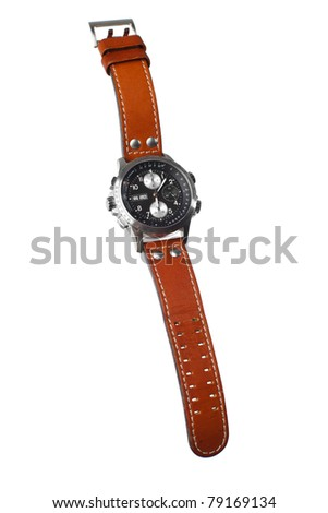wristwatch isolated - stock photo