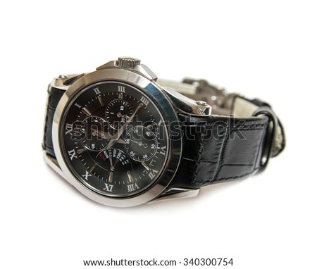 Wristwatch isolated on the white background - stock photo