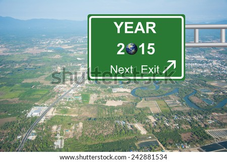 Write a New Year, New You road sign green Concept 2015 - stock photo
