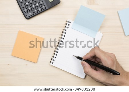 Write to Notepad - stock photo