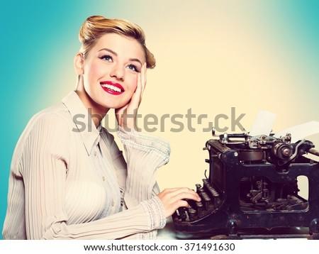 Writer. - stock photo