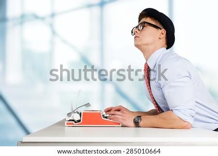 Writer, author, journalist. - stock photo