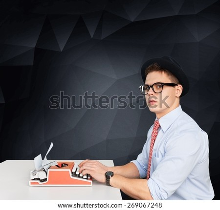 Writer, author, student. - stock photo