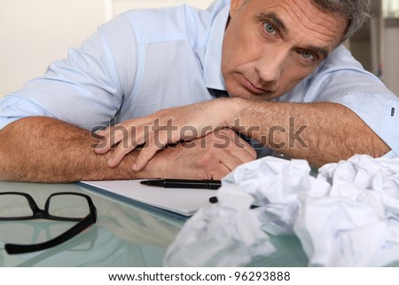 Writer's block - stock photo