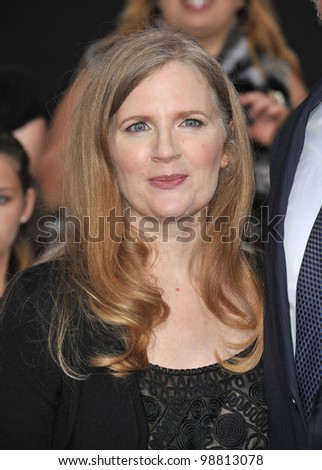 "Writer Suzanne Collins at the world premiere of her new movie ""The Hunger Games"" at the Nokia Theatre L.A. Live. March 12, 2012  Los Angeles, CA Picture: Paul Smith / Featureflash"