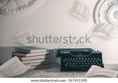 Writer workplace  - stock photo