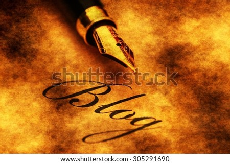 Writing blog - stock photo
