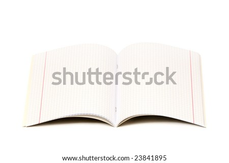 Writing-book for records isolated on a white background - stock photo