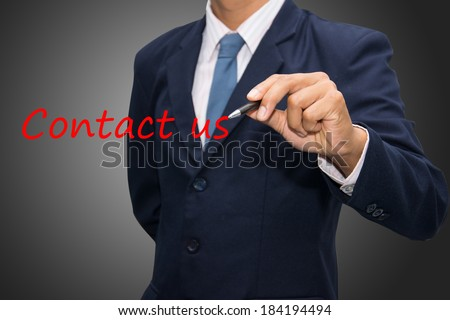 writing contact us  - stock photo