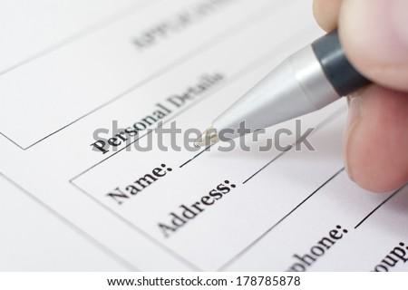 writing data - stock photo
