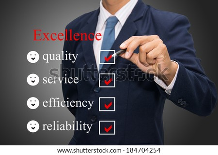 Writing excellence concept.  - stock photo