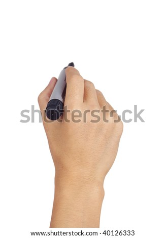 Writing Isolated on a white background