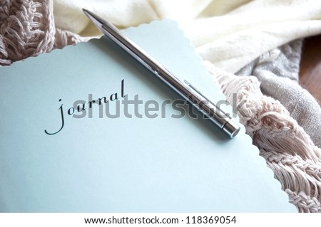 writing journal book in winter