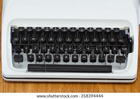 writing machine - stock photo