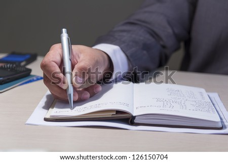Writing notes - stock photo