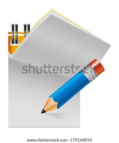 writing pad - stock photo