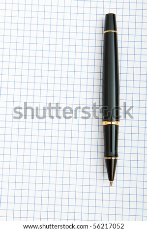 Writing pen on the blank page - stock photo
