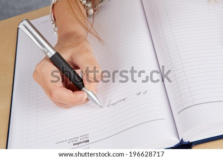 writing person