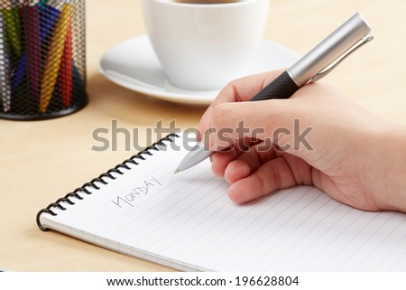 writing person - stock photo