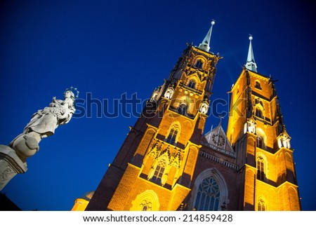 wroclaw cathedral - stock photo