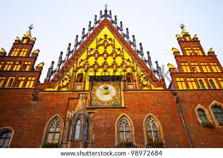 Wroclaw City Hall - stock photo