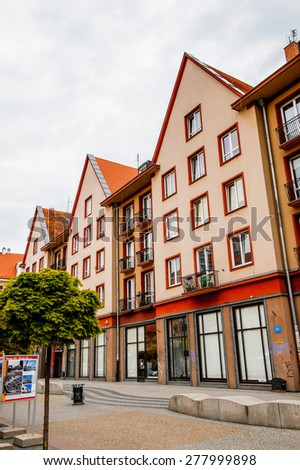 WROCLAW, POLAND - MAY 5, 2015: Architectue in Wroclaw, Poland. Wroclaw is the historical capital of Silesia and Lower Silesia