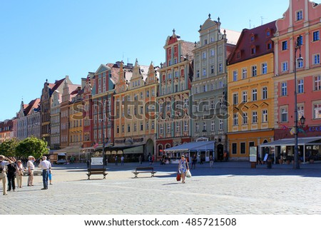 WROCLAW, POLAND - September12, 2016: Old, architecture in Wroclaw,