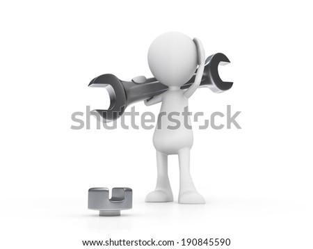 Wrong Tool - stock photo