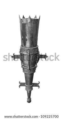 wrought-iron torch - stock photo