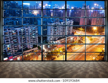 Wuhan scenery looking out the window - stock photo